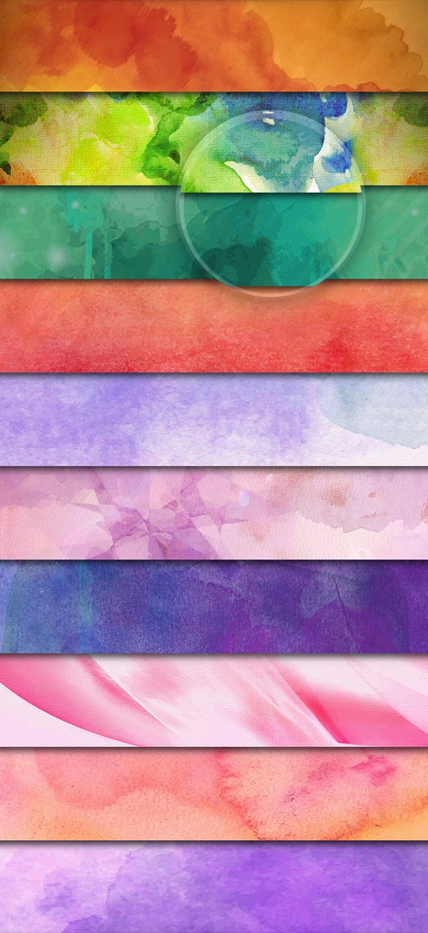 Free PSD Watercolor Backgrounds