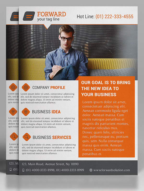 Free Professional Corporate Flyer PSD Template