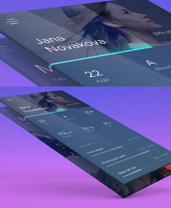 Free App Presentation PSD Screens Design
