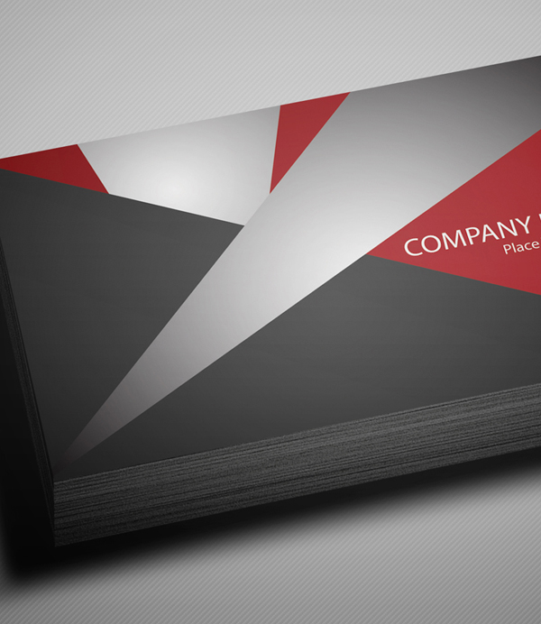 Free Creative Red Business Card PSD Template - 3