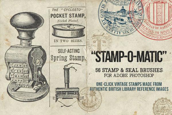 Free Vintage Stamp & Seal Brush Set