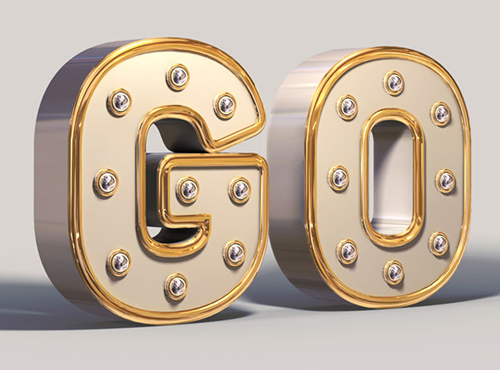 Create a Shiny, White and Gold, 3D Text Effect in Adobe Photoshop