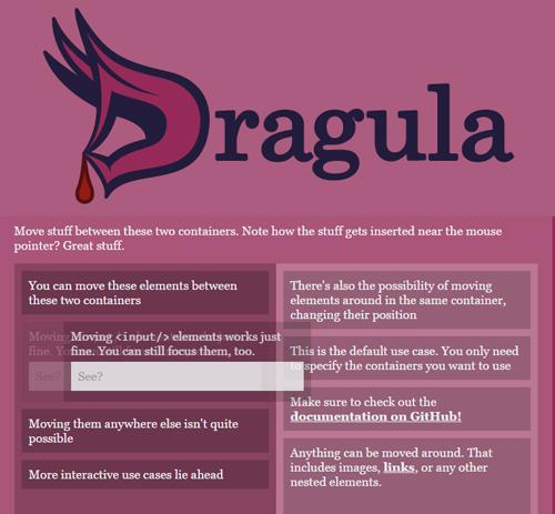 Dragula: Drag and Drop Plugin UI Design Tool