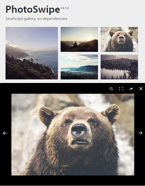 PhotoSwipe: Image Gallery Plugin for Mobile and Desktop Devices