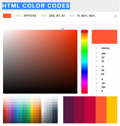 HTML Color Codes - UI Design Tool
