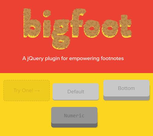 bigfoot.js: Create Better Footnotes