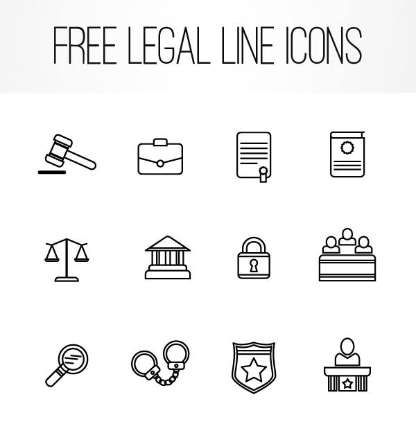 Free Legal Line Icons by John Horoszewski
