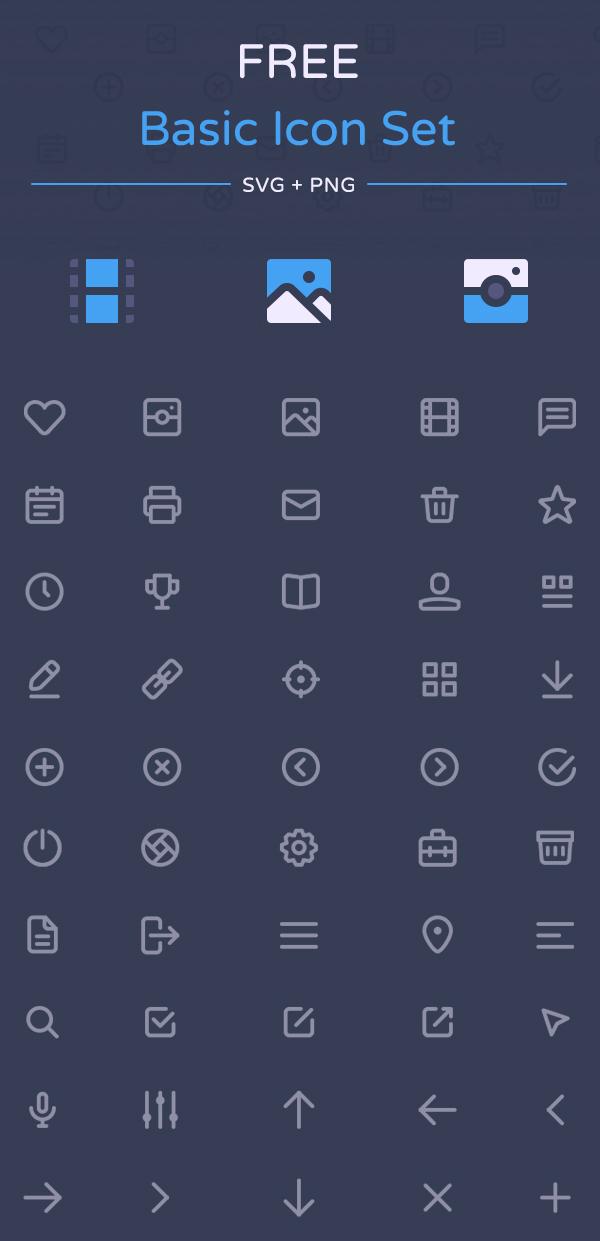 Free Basic Icon Set by Dmitriy Ivanov