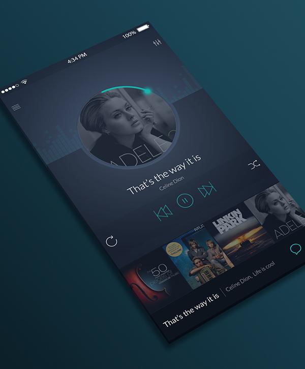 Free PSD IOS Music Player UI