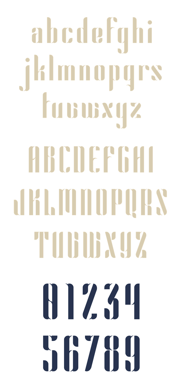 Astro Font Letters and Numbers