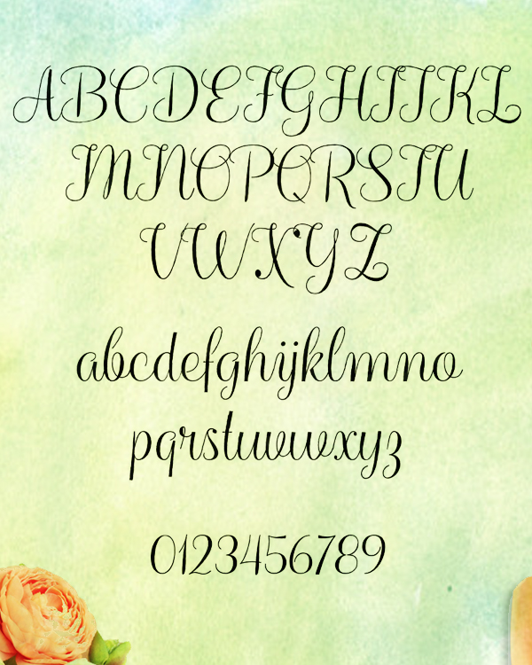 Balqis Font Letters and Numbers
