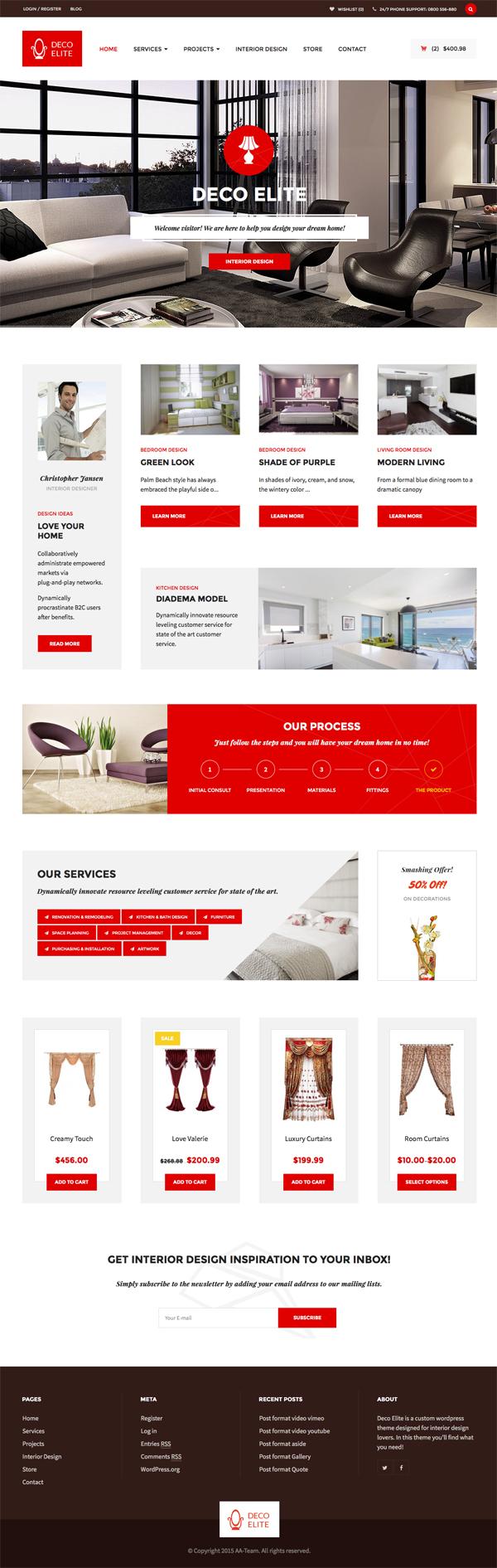 Deco Elite - Interior Design eCommerce WordPress Theme