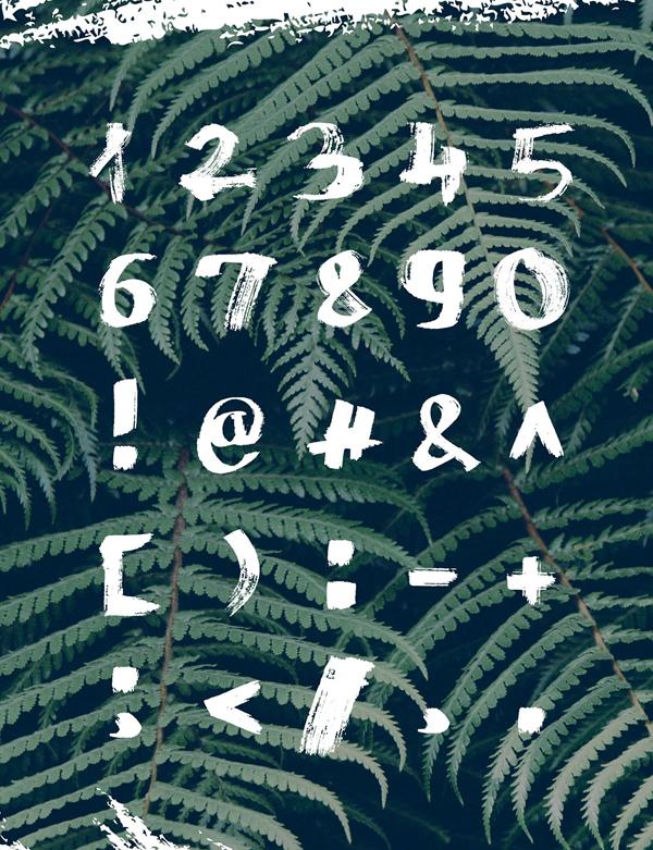 Mazak Font Letters