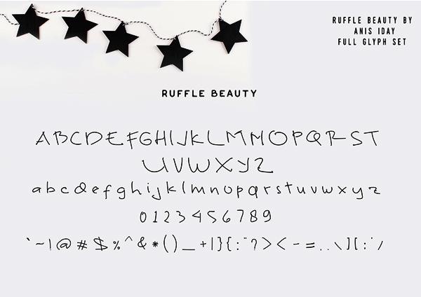 Ruffle Beauty Font Letters