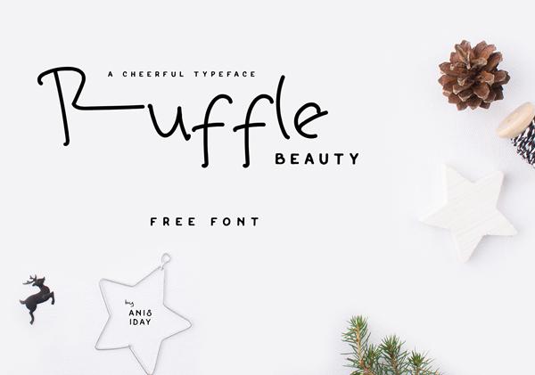 Ruffle Beauty Free Font