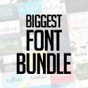 Post thumbnail of Biggest Font Bundle – 75 Fonts