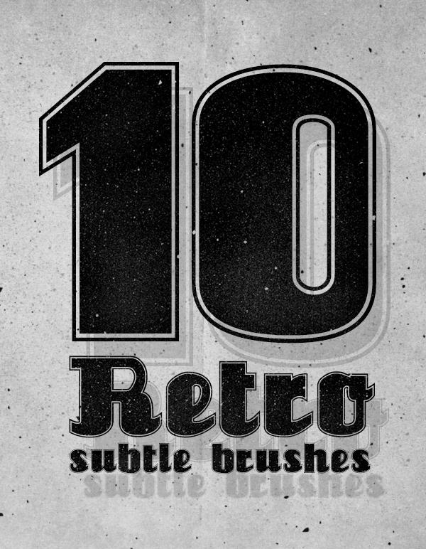 Free Photoshop Retro Subtle Brushes (10 Brushes)