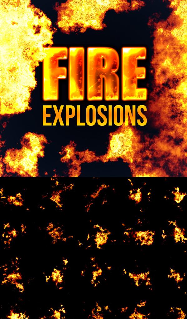 Free Photorealistic Explosion Brushes - (16 Brushes)