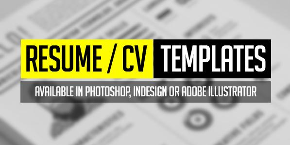 15 Free Elegant Modern CV / Resume Templates (PSD)
