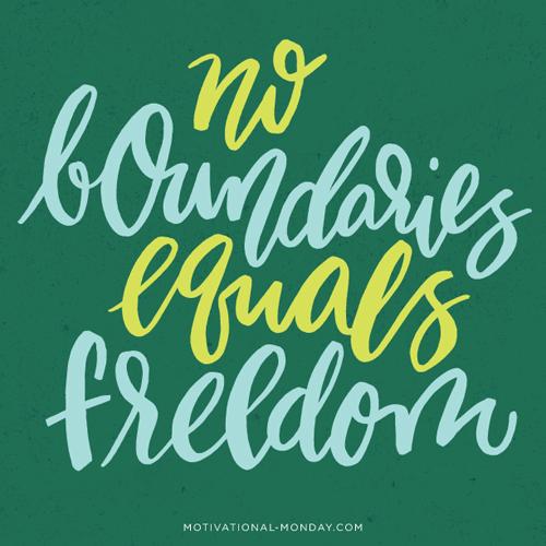 No Boundaries Equals Freedom by Eliza Cerdeiros