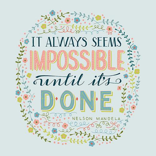 It Always Seems Impossible by Mye De Leon