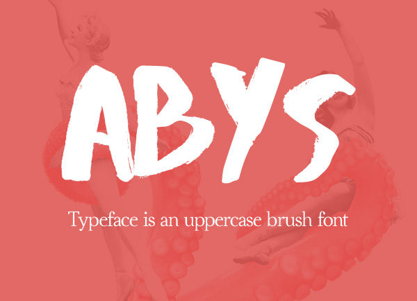 Abys Free Brush Font