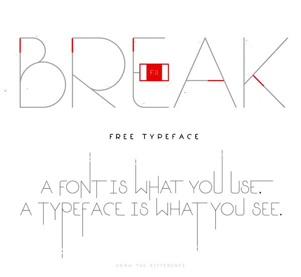 Break Fill Free Font