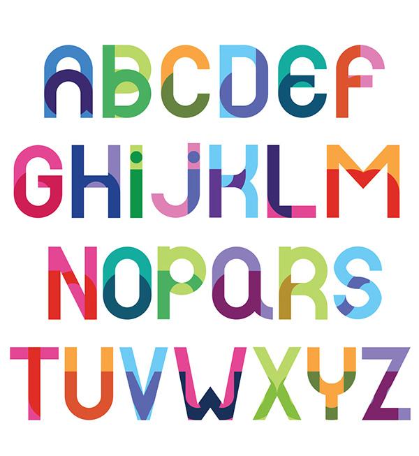 Double Font Letters