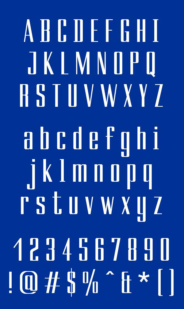 Ducados Font Letters