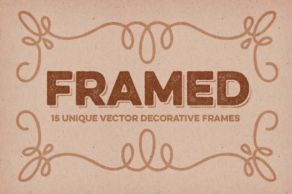 15 pack of decorative vector frames