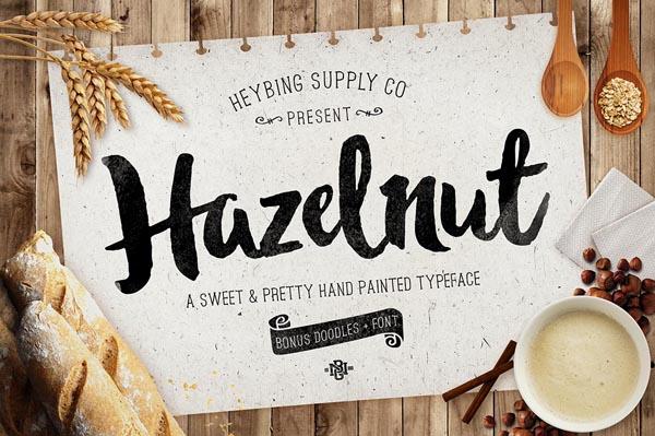 Free Hazelnut Typeface + Bonus Extras