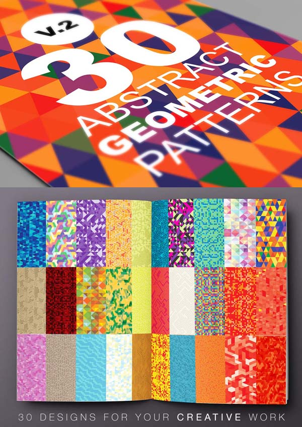 30 abstract backgrounds or patterns with geometric style
