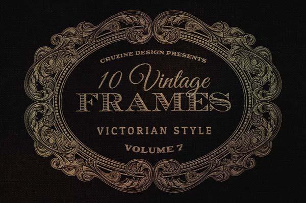 10 retro/vintage style frames/badges