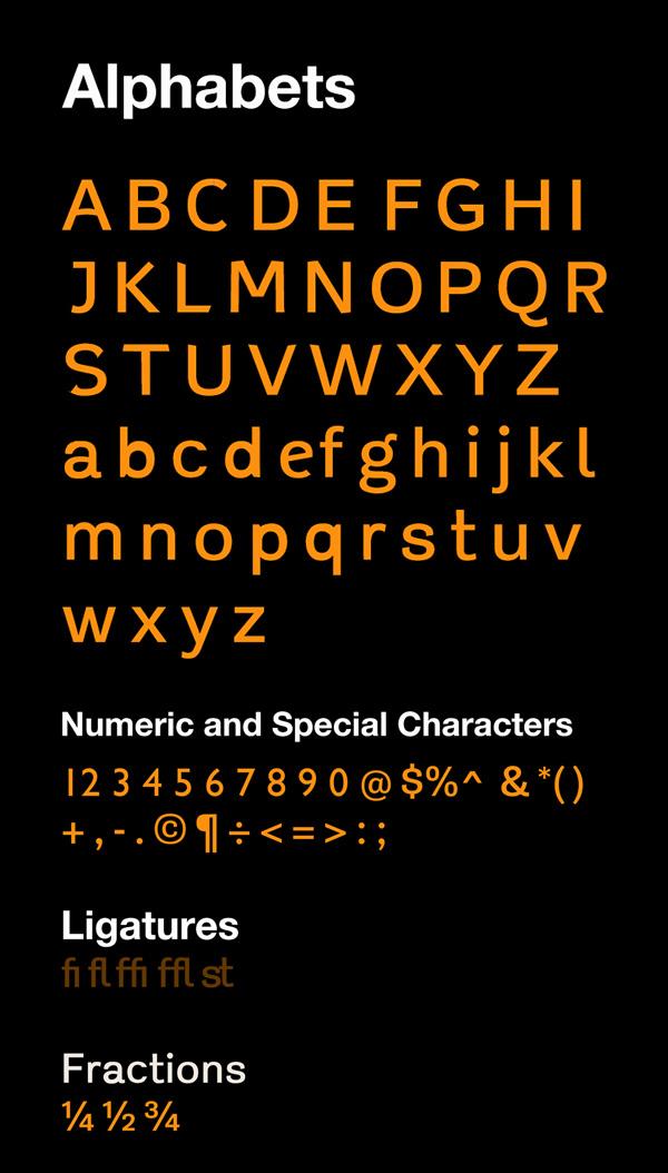 Gauthier Font Letters