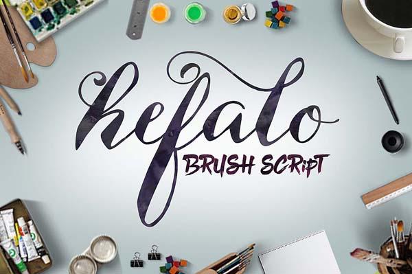 Hefalo Brushscript Free Font