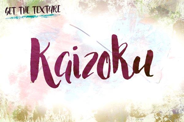 Kaizoku newly brush-lettered font