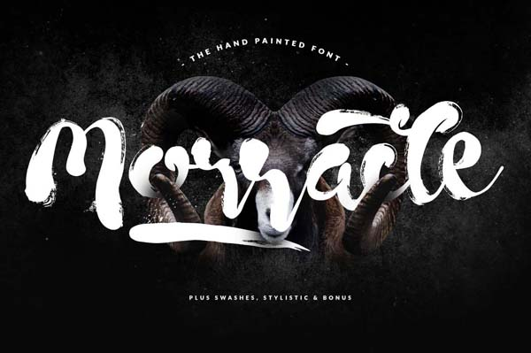 Morracle free hand-drawn brush font