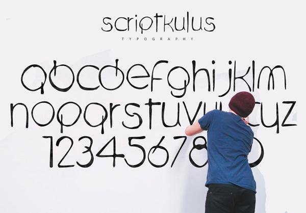 Scriptkulus Font Letters