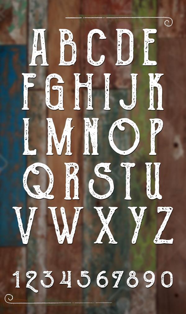 The Goldsmith Vintage Font Letters