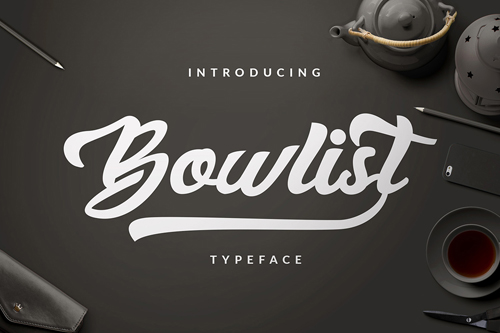 Bowlist is a bold, playful, modern, and multi-purpose typeface
