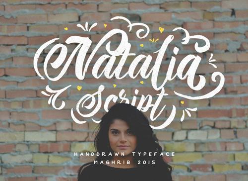 Natalia Script is a thick brush font