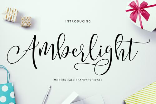 Amberlight Script - a new, fresh and modern script