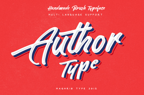 Author is a hand painted typeface