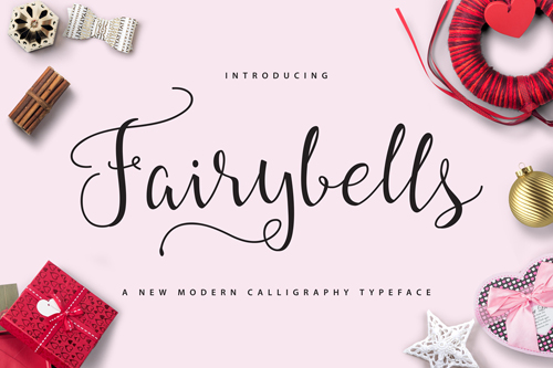 Fairybells is definitely one of our favourite fonts this month