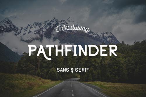 Pathfinder, a sans serif font