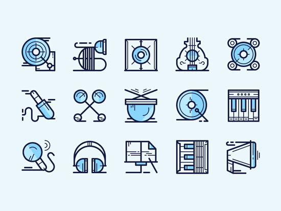 Free Vector Rock Music Icons