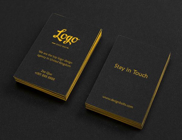 Free Black Textured Buisness Card Mockup Template