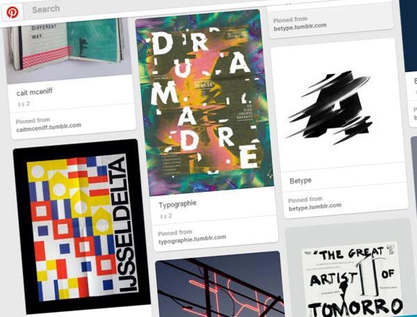 Pinterest style webdesign