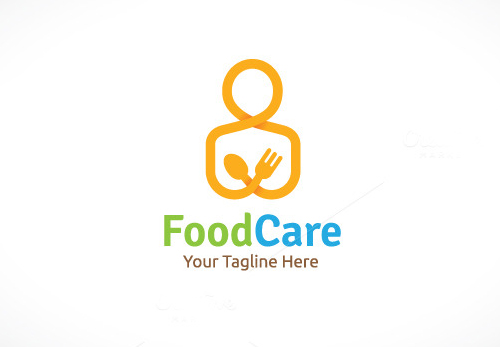 Food Care Logo Design Template