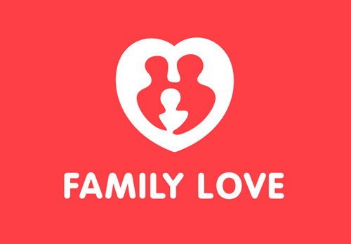 Family Love Logo Template